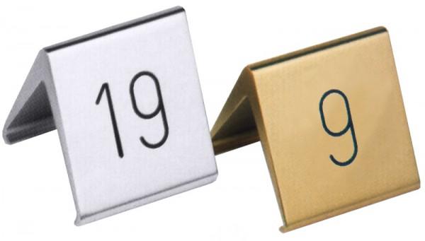 Tischnummernschild 5 cm, Leichtmetall Eloxiert