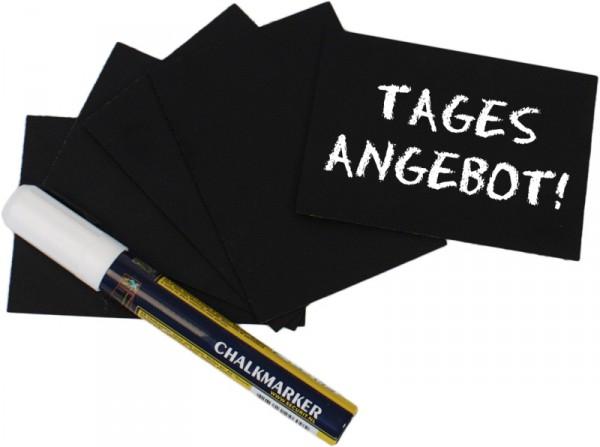 Schreibtafel, schwarz DIN A7 20-er Set incl. Stift