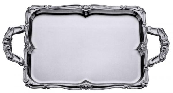 Barock-Tablett rechteckig mit Griffen 52 x 39 cm