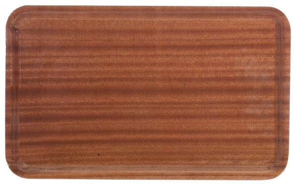 Holz-Tablett GN 1/1, rutschfest, Farbe: Mahagoni