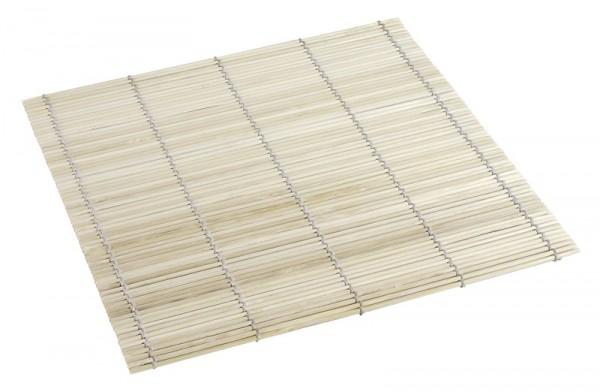 Sushi Matte aus Bambus, weiß