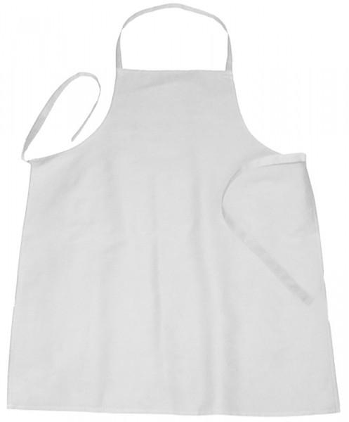 Schürze mit Latz, weiß, 110 x 90 cm