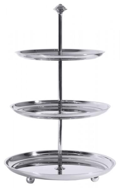 Petits-Fours-Etagere mit 3 Ebenen Ø 20- 22,5 -25 cm