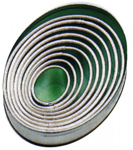 Ausstechform oval, glatt,9-tlg