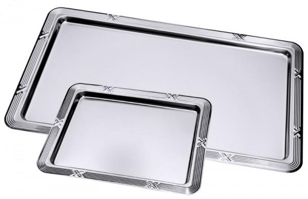 GN-Tablett 1/2 mit Dekor-Rand Chromstahl