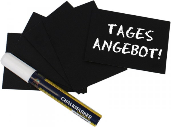 Schreibtafel, schwarz DIN A8 20-er Set incl. Stift