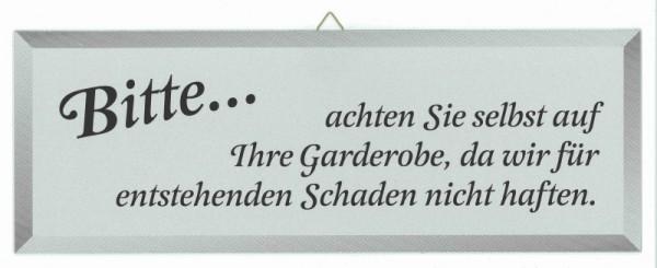 Garderobe schild  Schild GARDEROBENHAFTUNG | Kleinmöbel | Contacto | Hersteller ...