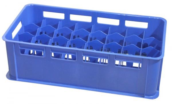 Gläserkasten 32 Fächer, blau