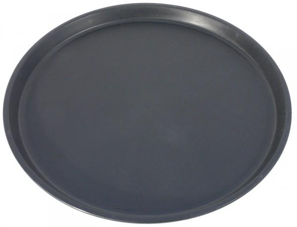 Tablett, rund 35 cm, schwarz rutschfest