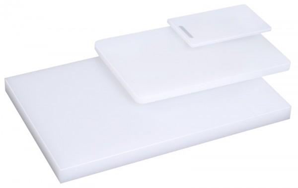 Schneidbrett, weiß 25 cm x 15 cm x 1 cm