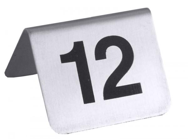 Tischnummernschild mit Nummern 37 bis 48