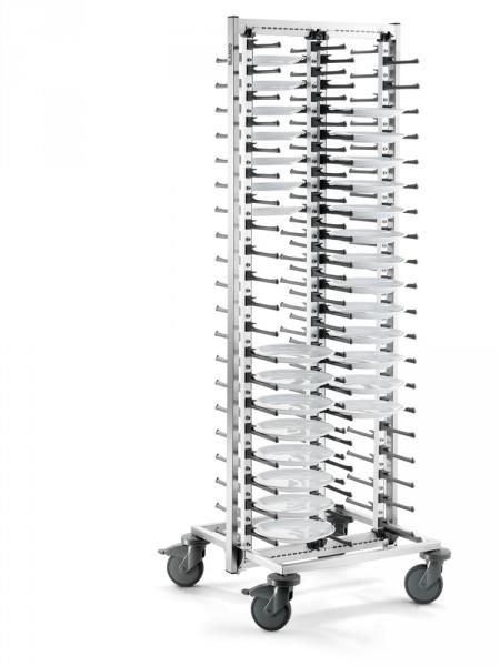 BLANCO Teller-Stapelsystem SERVISTAR GASTRO 80 mit stahlverzinkte Rollen