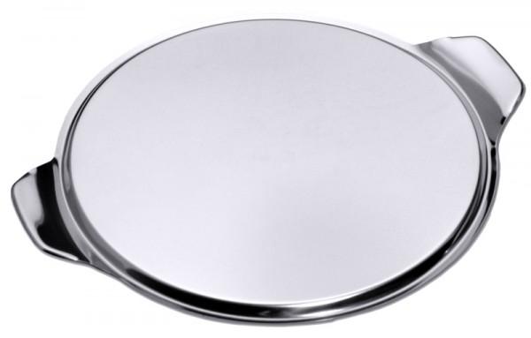 Tortenplatte 33 cm, schwere Qualität 0,7 mm Edelstahl 18/0