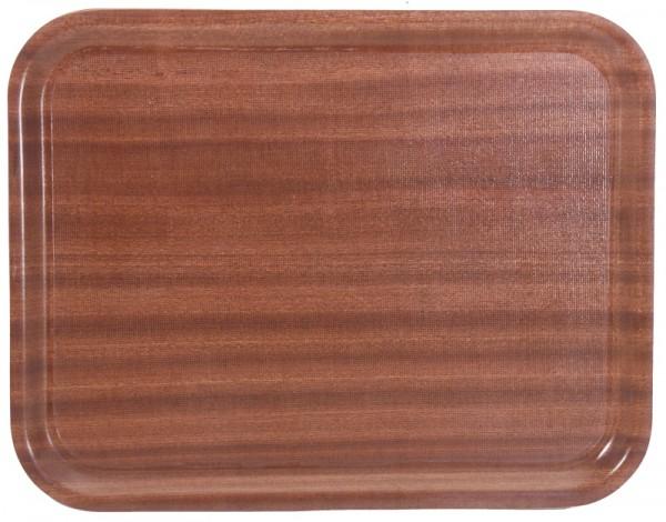 Tablett, rechteckig,rutschfest Farbe: Mahagoni