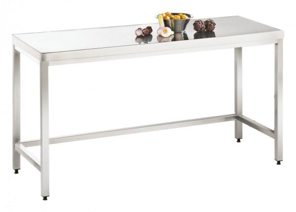 Arbeitstisch ohne Grundboden, Serie Variabel, AISI 304