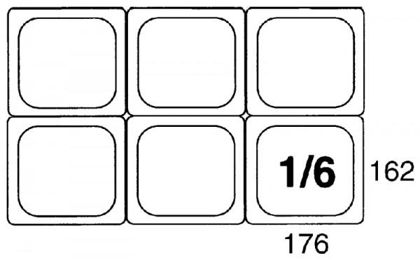 GN-Behälter 1/6, 65mm Polypropylen