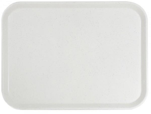 Tablett Glasfaser, lichtgrau 46 cm x 36 cm