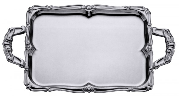 Barock-Tablett rechteckig mit Griffen 60 x 46 cm