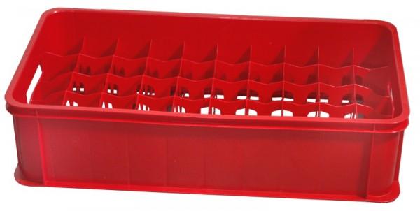 Gläserkasten 50 Fächer, rot