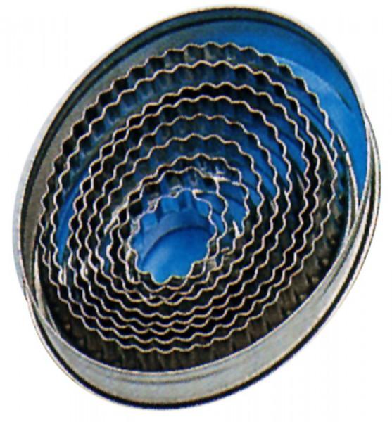 Ausstechform oval,wellig,9-tlg