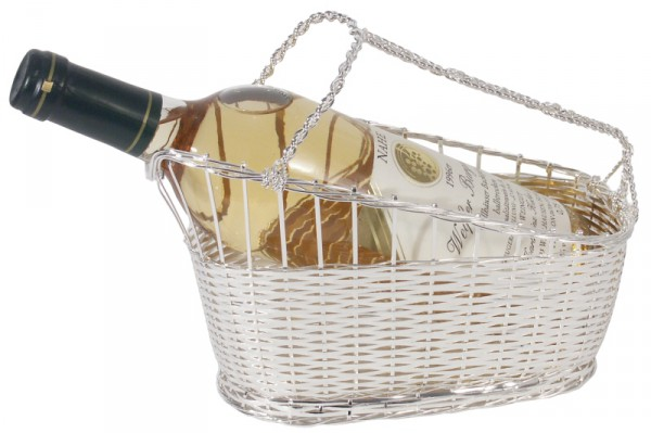Weinkorb 18 cm hoch,versilbert