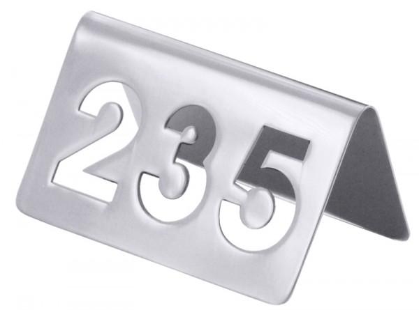 Einzelnes (bitte Nummer angeben) Tischnummernschild aus dem Nummernkreis von 100 bis 250