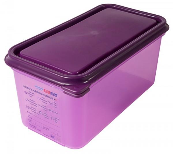Behälter allergen 1/3 150 mm aus lila Polypropylen, 6 l