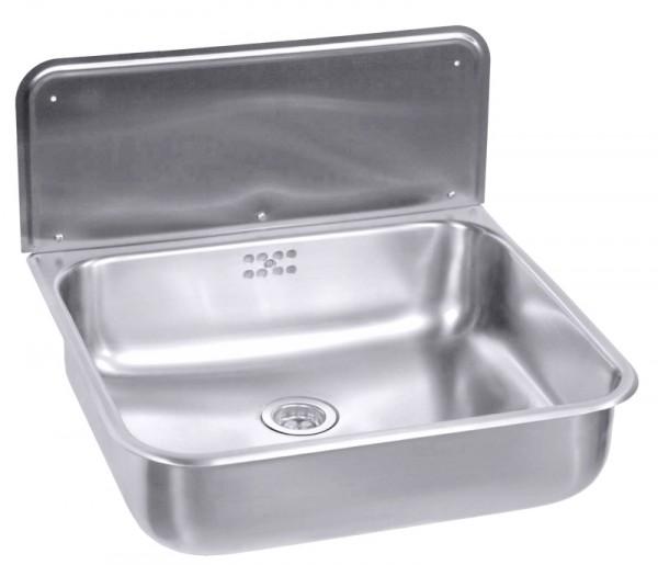 Waschbecken mit Überlauf mit Konsole, Bodenventil