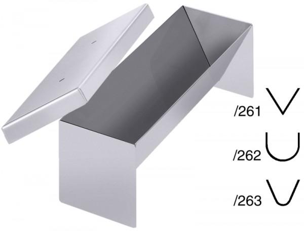 Pastetenform dreieck spitz, 26x8x7,5 cm, mit Deckel