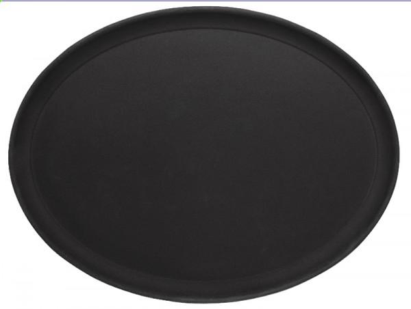 Tablett oval, rutschfest 26,5 x 20 cm, schwarz