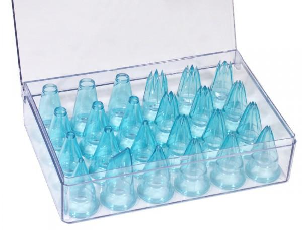 Spritzbeutel-Tüllen 24er Set aus Polycarbonat