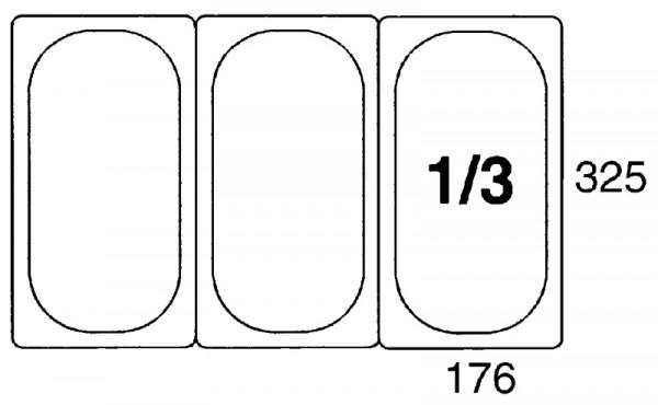 GN-Behälter 1/3, 65mm Polypropylen
