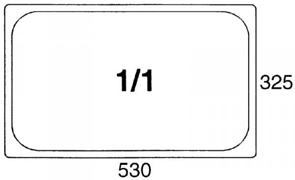 GN-Behälter 1/1, 100mm Polypropylen