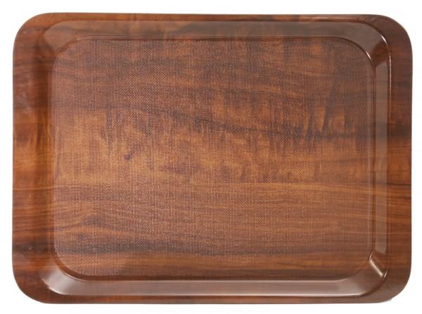 Tablett, rutschfest 44 x 32 cm Dekor: Nussbaum
