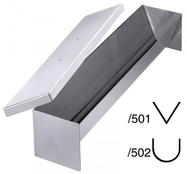 Pastetenform dreieck,spitz 50x10x9cm, mit Deckel