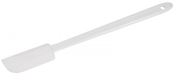 Teigspatel 26 cm, weiß schmales Blatt
