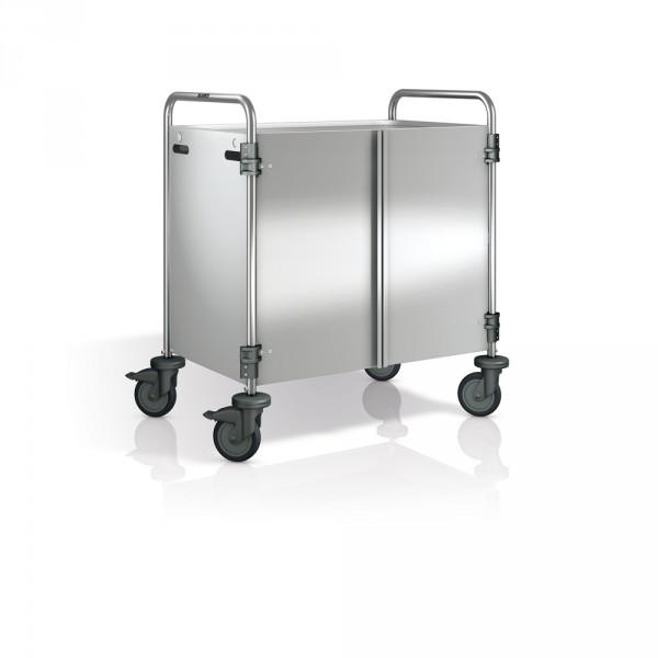Verkleidung für Blanco Servierwagen, 3-seitig inkl. Flügeltüren, aus Edelstahl