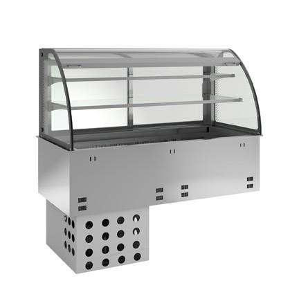 Einbaukühlvitrine - kundenseitig offen - 2 Ablagen