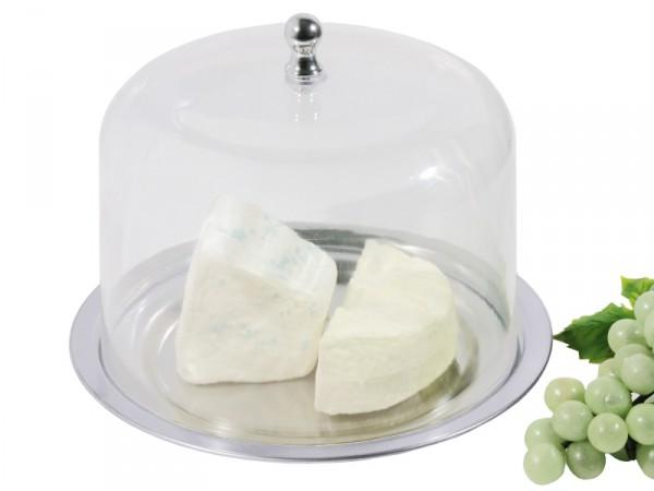 Käseset: Tablett und Haube