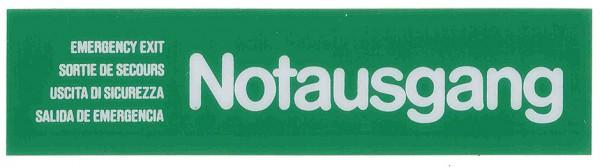 Wortschild NOTAUSGANG grün