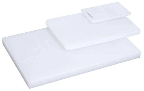 Schneidbrett, weiß 50 cm x 34 cm x 2 cm