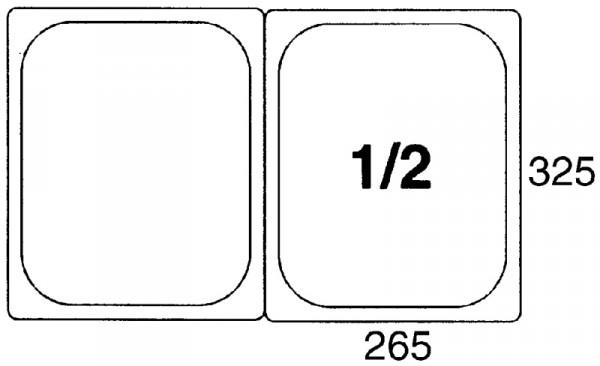 GN-Behälter 1/2, 65mm Polypropylen