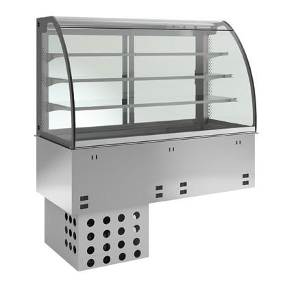 Einbaukühlvitrine - kundenseitig geschlossen - 3 Ablagen