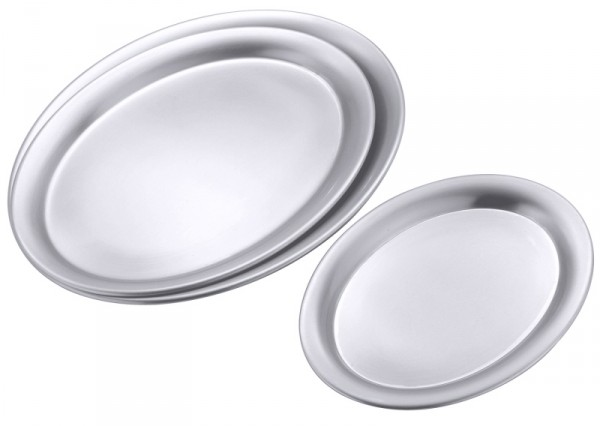 Serviertablett oval, matt, 23 x 17,5 x 1cm