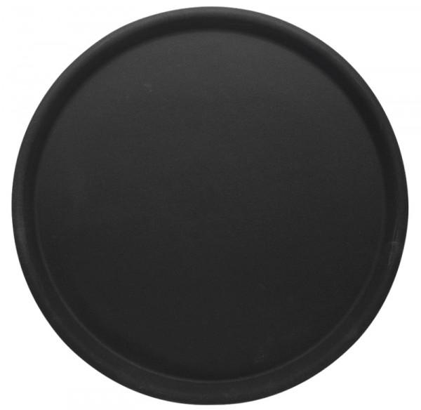 Tablett rund, rutschfest 38 cm, schwarz