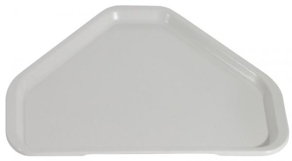 Tablett Trapezform, lichtgrau 34 x 48 cm, glasfaserverstärkt