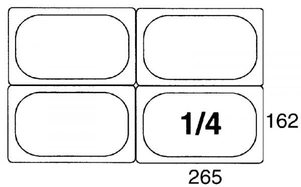 GN-Behälter 1/4, 100mm Polypropylen