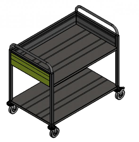 Geschirrabräumwagen für Schulen/Kitas