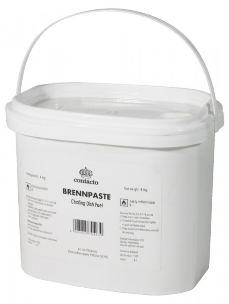 Brennpaste, 4 kg Basis Ethanol