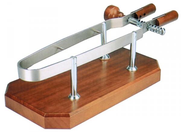 Schinkenhalter mit Holzplatte